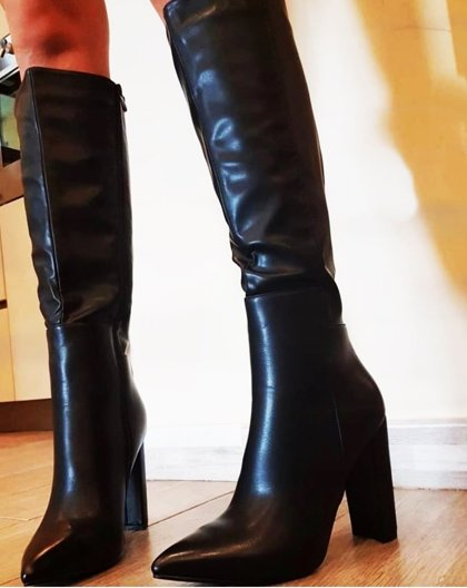 leather imitation long boots 227/ size: 36; 37; 38